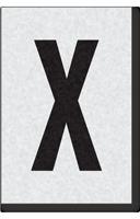 Engineer Grade Vinyl Numbers Letters Black on white X