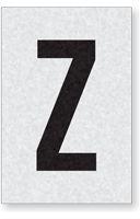 Engineer Grade Vinyl Numbers Letters Black on white Z