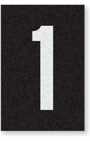 Engineer Grade Vinyl Numbers Letters White on black 1