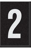 Engineer Grade Vinyl Numbers Letters White on black 2