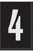 Engineer Grade Vinyl Numbers Letters White on black 4