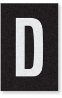 Engineer Grade Vinyl Numbers Letters White on black D