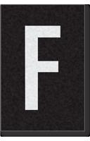 Engineer Grade Vinyl Numbers Letters White on black F