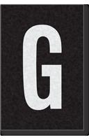 Engineer Grade Vinyl Numbers Letters White on black G