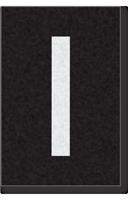Engineer Grade Vinyl Numbers Letters White on black I