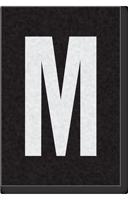 Engineer Grade Vinyl Numbers Letters White on black M