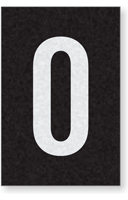 Engineer Grade Vinyl Numbers Letters White on black O