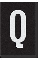 Engineer Grade Vinyl Numbers Letters White on black Q