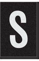 Engineer Grade Vinyl Numbers Letters White on black S