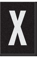 Engineer Grade Vinyl Numbers Letters White on black X