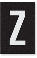 Engineer Grade Vinyl Numbers Letters White on black Z