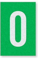 Engineer Grade Vinyl Numbers Letters White on green 0