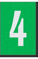 Engineer Grade Vinyl Numbers Letters White on green 4