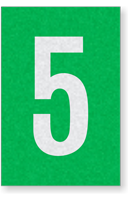 Engineer Grade Vinyl Numbers Letters White on green 5