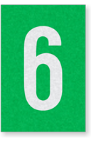 Engineer Grade Vinyl Numbers Letters White on green 6
