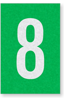 Engineer Grade Vinyl Numbers Letters White on green 8