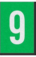 Engineer Grade Vinyl Numbers Letters White on green 9