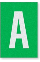 Engineer Grade Vinyl Numbers Letters White on green A