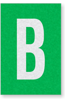 Engineer Grade Vinyl Numbers Letters White on green B