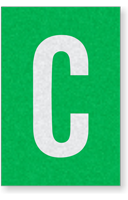 Engineer Grade Vinyl Numbers Letters White on green C