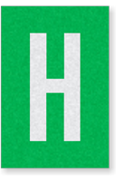 Engineer Grade Vinyl Numbers Letters White on green H