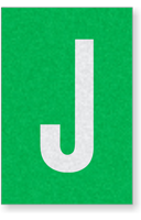 Engineer Grade Vinyl Numbers Letters White on green J