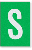 Engineer Grade Vinyl Numbers Letters White on green S