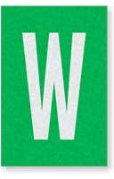 Engineer Grade Vinyl Numbers Letters White on green W