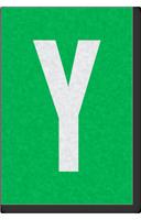 Engineer Grade Vinyl Numbers Letters White on green Y
