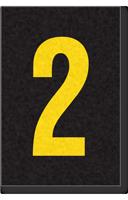 Engineer Grade Vinyl Numbers Letters Yellow on black 2