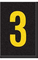 Engineer Grade Vinyl Numbers Letters Yellow on black 3