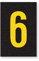 Engineer Grade Vinyl Numbers Letters Yellow on black 6