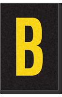 Engineer Grade Vinyl Numbers Letters Yellow on black B