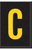 Engineer Grade Vinyl Numbers Letters Yellow on black C