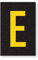 Engineer Grade Vinyl Numbers Letters Yellow on black E