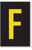 Engineer Grade Vinyl Numbers Letters Yellow on black F