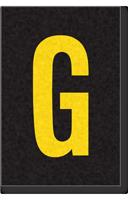 Engineer Grade Vinyl Numbers Letters Yellow on black G