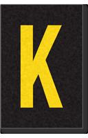 Engineer Grade Vinyl Numbers Letters Yellow on black K