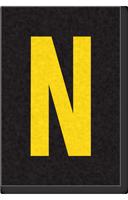 Engineer Grade Vinyl Numbers Letters Yellow on black N