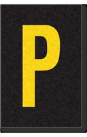 Engineer Grade Vinyl Numbers Letters Yellow on black P