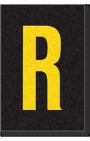 Engineer Grade Vinyl Numbers Letters Yellow on black R