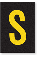Engineer Grade Vinyl Numbers Letters Yellow on black S