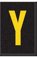 Engineer Grade Vinyl Numbers Letters Yellow on black Y