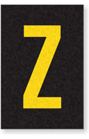 Engineer Grade Vinyl Numbers Letters Yellow on black Z