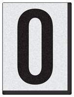 """Engineer Grade Vinyl Numbers 1.5"""" Character Black on white 0"""