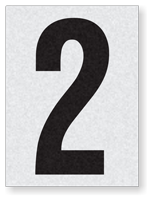 "Engineer Grade Vinyl Numbers 1.5"" Character Black on white 2"