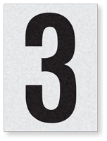 "Engineer Grade Vinyl Numbers 1.5"" Character Black on white 3"