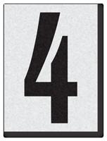 """Engineer Grade Vinyl Numbers 1.5"""" Character Black on white 4"""