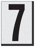 """Engineer Grade Vinyl Numbers 1.5"""" Character Black on white 7"""