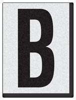 """Engineer Grade Vinyl Numbers 1.5"""" Character Black on white B"""